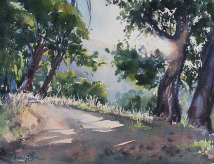 Road to Nowhere, watercolour