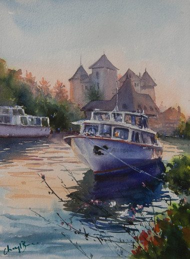 Dusk Reflections, Annecy, sold
