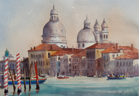 Venice Canals, watercolour,