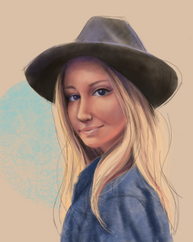 Skye, digital portrait
