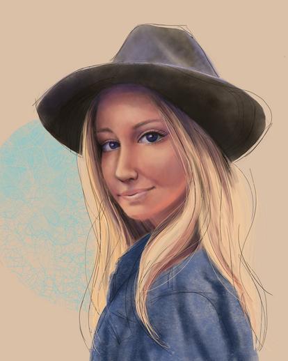 Skye, digital portrait