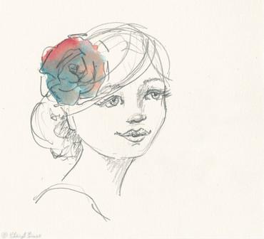 Love Your Extraordinary Self, graphite & watercolour, A5