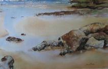Rockshelf, watercolour, 40x44.5cm