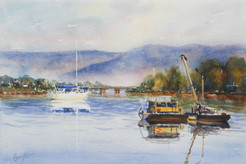 Still Morning, watercolour, 85 x 75cm
