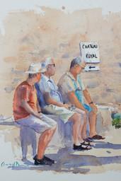 Stooges - Petanque Players, Collioure France