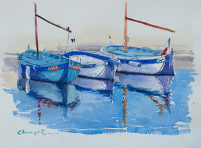 Cassis Boat Refelction Study