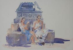 Social Spot,  watercolour, 41 x 35cm