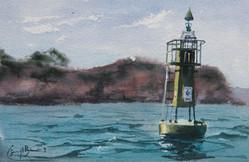 Sydney Harbour study, watercolour, 25.5 x 17cm