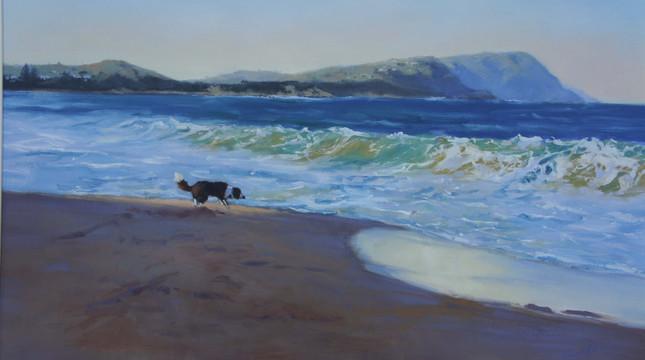 Freedom at the Beach, oil, 94 x 69cm