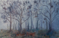 Into the Mist, watercolour, sold