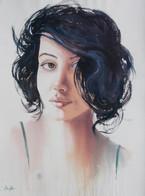 Through Her Eyes II, Watercolour on full sheet