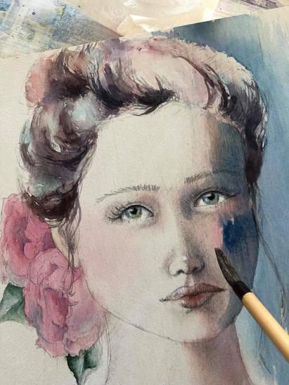 Vintage Girl, work in progress