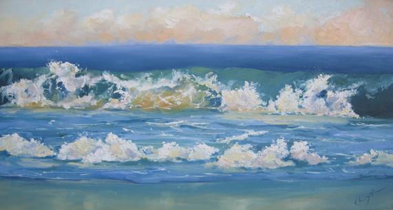 Crashing Wave, oil