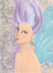 Fairy Girl, mixed media, A4