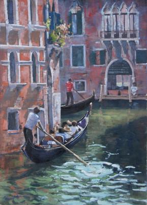 Venice Canals, oil, 60 x 47cm