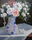 Blue & White Jug, oil, 50 x 60cm