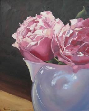 Sunit Roses with Jug, oil, 40 x 50cm