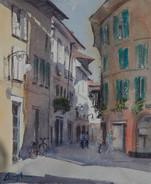 European Streetscene I, watercolour 27cm x 20.5 (unframed measurement)