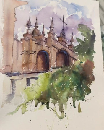 Flick through of paintings done en plein air in Granada