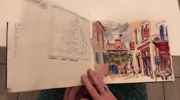 A flick through of my sketchbook