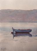 Quiet Moment, watercolour, 61 x 52cm, sold