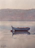 Quiet Moment, watercolour, 61 x 52cm