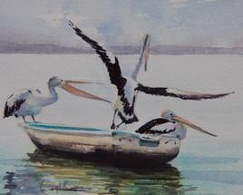 Nag Nag Nag, watercolour, 23 x 28cm sold