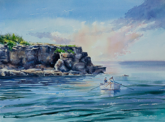 A Day  on the Water, watercol96 x 76cm, sold.jpg
