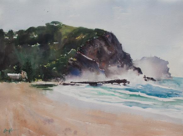 Seaspray Mist,  watercolour, sold