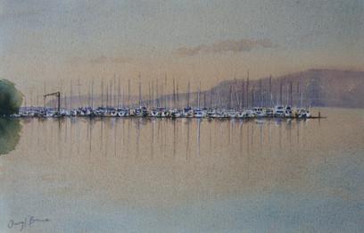 Brisbane Waters, watercolour, 85 x 68cm