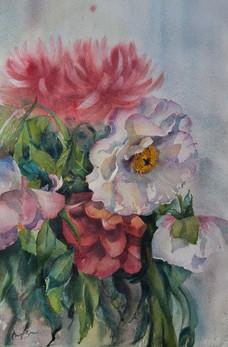 Bouquet, watercolour, 60 x 78cm