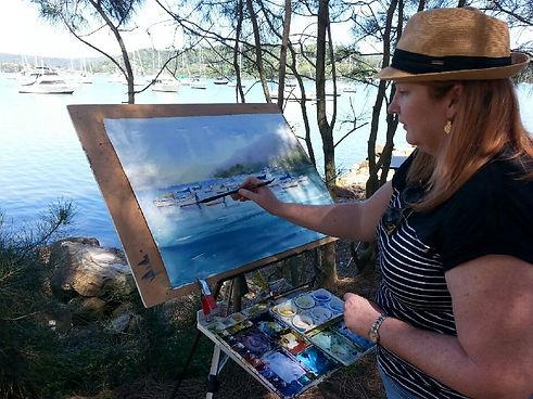 me painting at Gosford marina.JPG