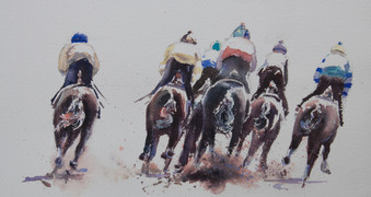 Round the Outside, watercolour