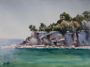 Pearl Beach, watercolour, 40 x 50cm, sold