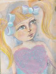 Alice, mixed media, A4