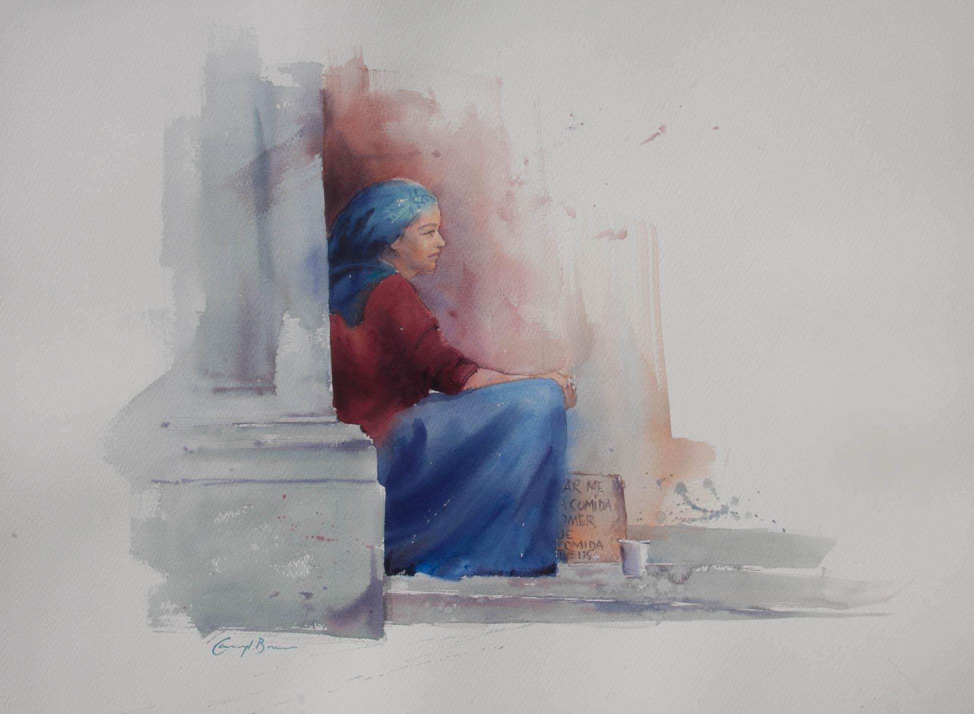 Gracious In Defeat,  watercolour full sh