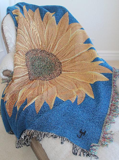 Sunflower Woven Throw