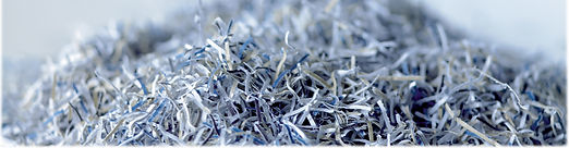 shredded waste paper with full chain of custody