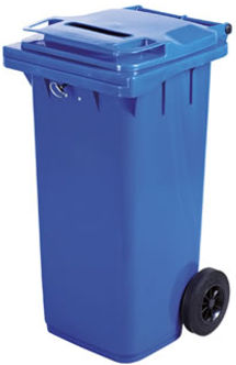240 and 360 litre lockable bins for storage and carriage of confidential documents paper