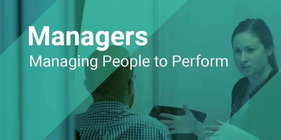 Managing People to Perform