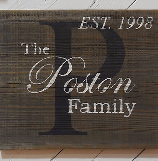 Custom Family Sign