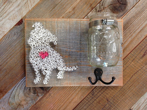 String Art - Dog with Hook