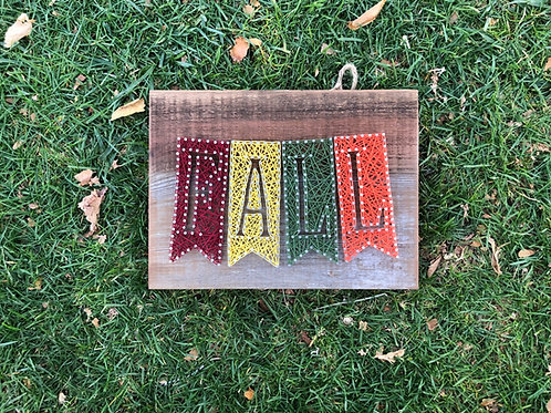 String Art - Fall Banner