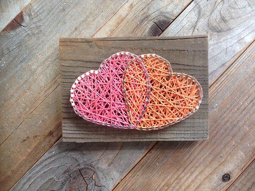 String Art - Heart Duo Overlap