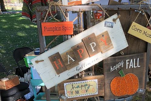 Sign - Happy Halloween