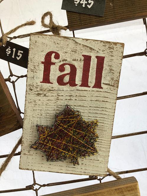 String Art - Fall Leaf