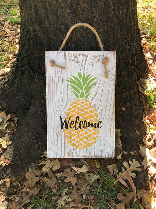 Sign - Welcome Pineapple
