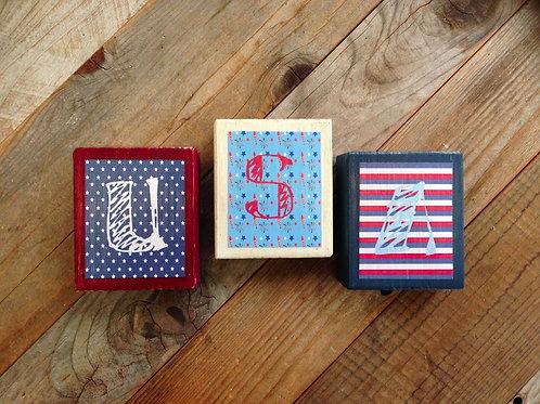 Blocks - Patriotic USA
