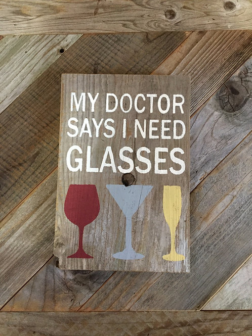 My Doctor Says I Need Glasses