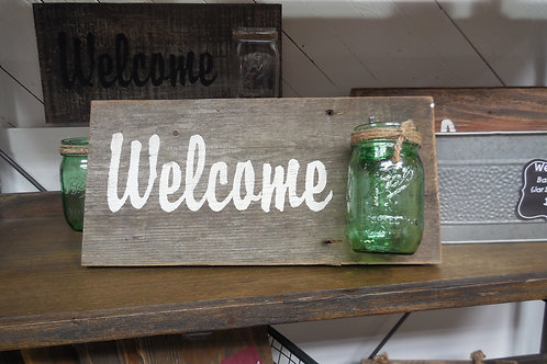 Welcome with Ball Jar